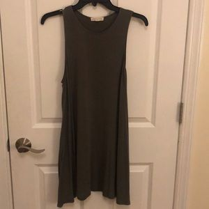 Olive Green Shift Dress (with pockets)